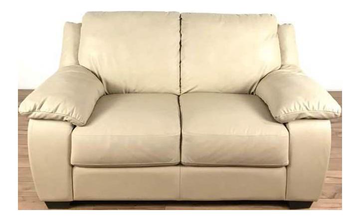 Bon Italsofa Cream Leather Sofa