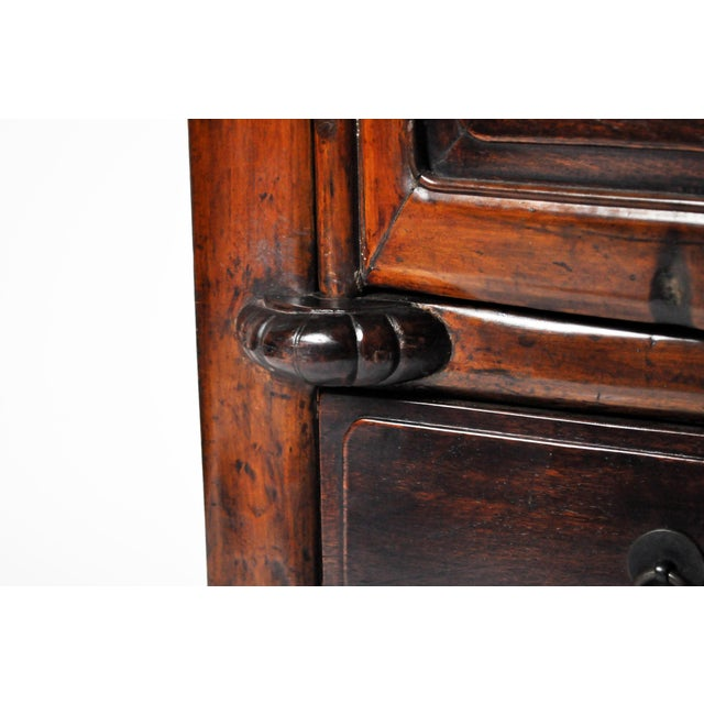 Wood Impressive Two Section Cabinet With Five Drawers For Sale - Image 7 of 13