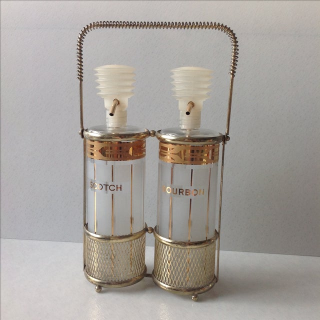 Mid-Century Fred Press Decanters - Pair - Image 2 of 10
