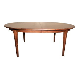 Solid Walnut Oval Dining Table