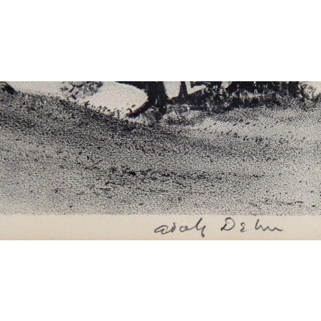 "Adolf Arthur Dehn, ""Lake Country,"" Lithograph - Image 2 of 2"
