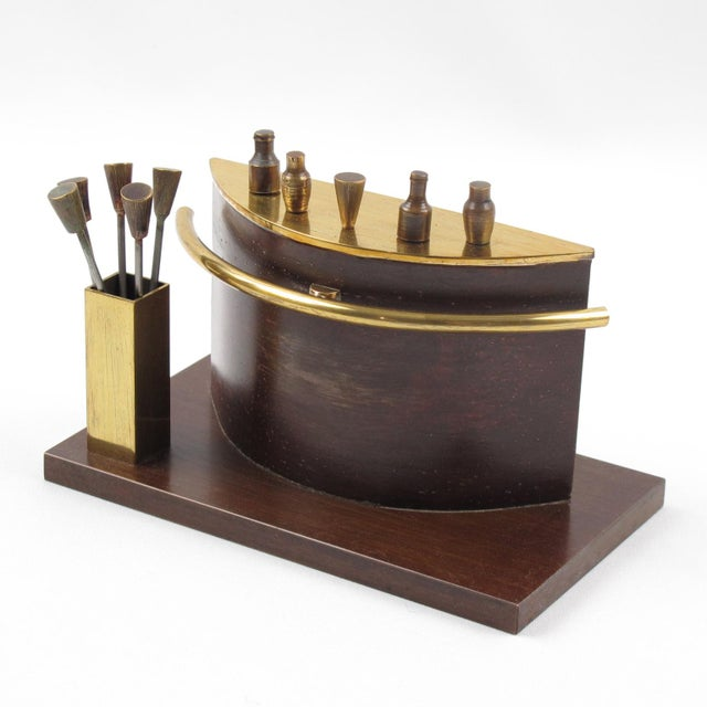 Brass Art Deco 1940s Brass Miniature Bar Cocktail Picks For Sale - Image 8 of 8
