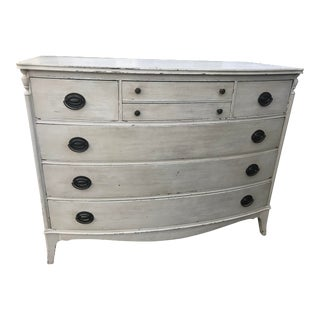 Shabby Chic Chippy Ivory Bachelor's Chest For Sale