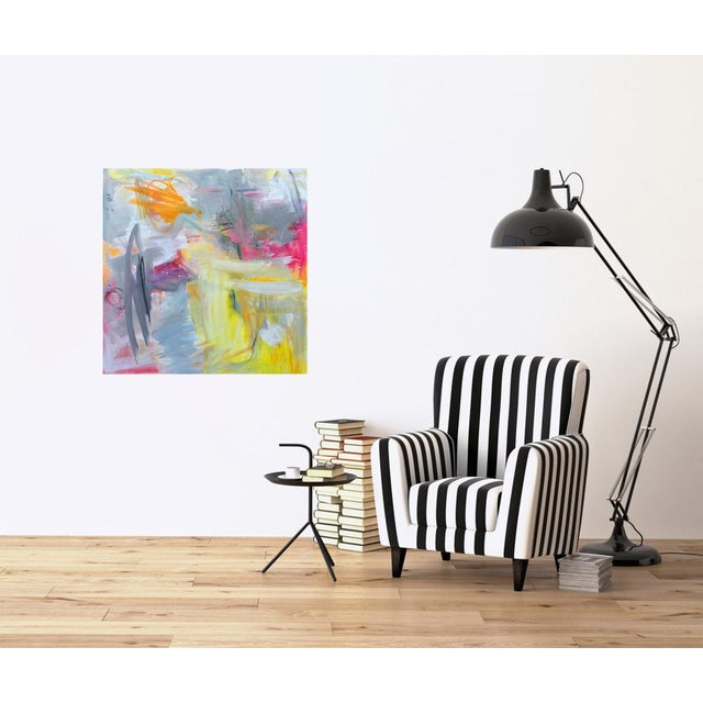 """""""Partially Sunny"""" by Trixie Pitts Abstract Expressionist Oil Painting For Sale In Nashville - Image 6 of 10"""