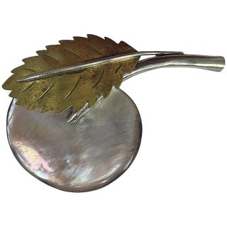 Fabrice Paris Large Mother of Pearl Fruit and Leaf Pin For Sale