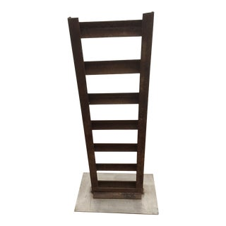 Abstract Vertical Iron Sculpture For Sale