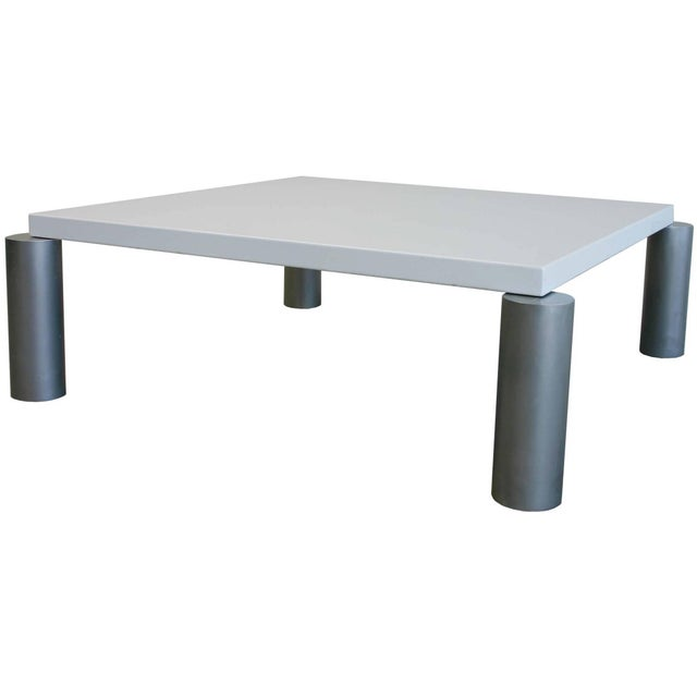 1970s Industrial Modern Coffee Table For Sale - Image 5 of 5