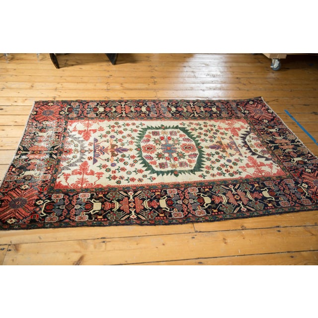 """Old New House Antique Farahan Sarouk Rug - 4'3"""" X 6'1"""" For Sale - Image 4 of 13"""