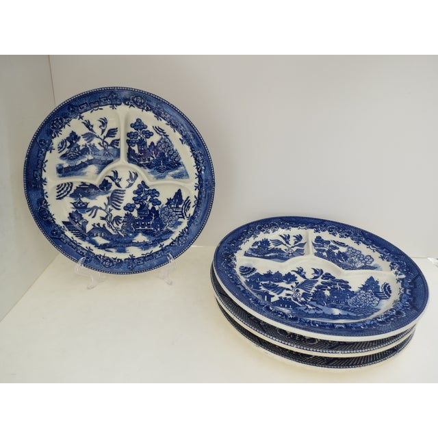 Blue Willow Grill Plates - Set of 4 - Image 3 of 8