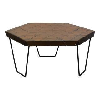 Oblik Studio Contemporary Hexagonal Coffee Table For Sale