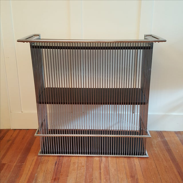 Mid-Century Platner Style Bar Stools & Table Set - Image 4 of 11