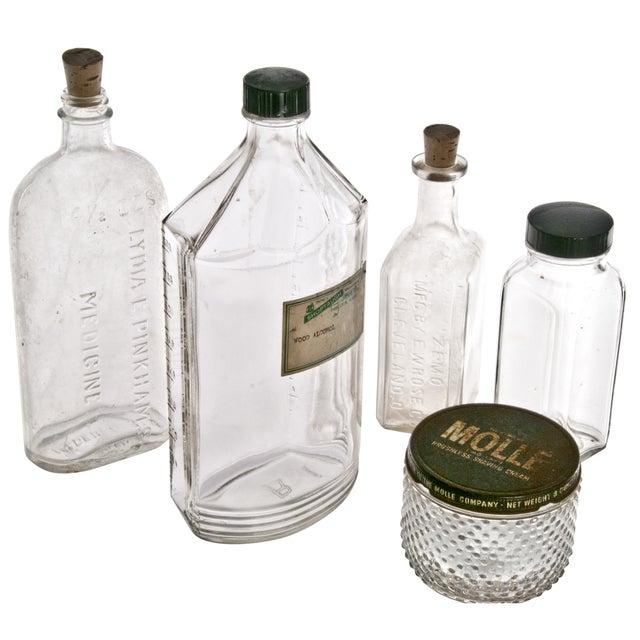 Vintage Clear Display Bottles - Set of 5 - Image 2 of 2