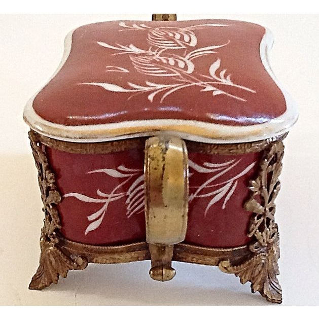 French Porcelain Box For Sale - Image 4 of 6