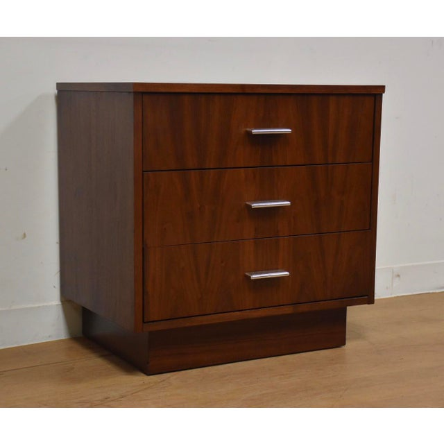 Dixie Walnut Modern Nightstand For Sale In Boston - Image 6 of 6