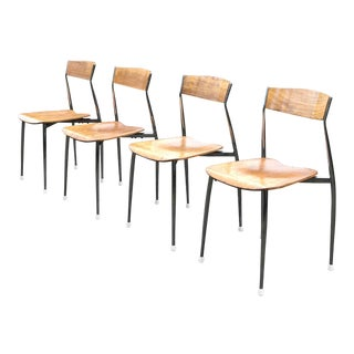 Bernhardt Mid-Century Chrome Dining Chairs - Set of 4