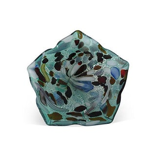 Vintage Murano Iridescent Art Glass Bowl For Sale