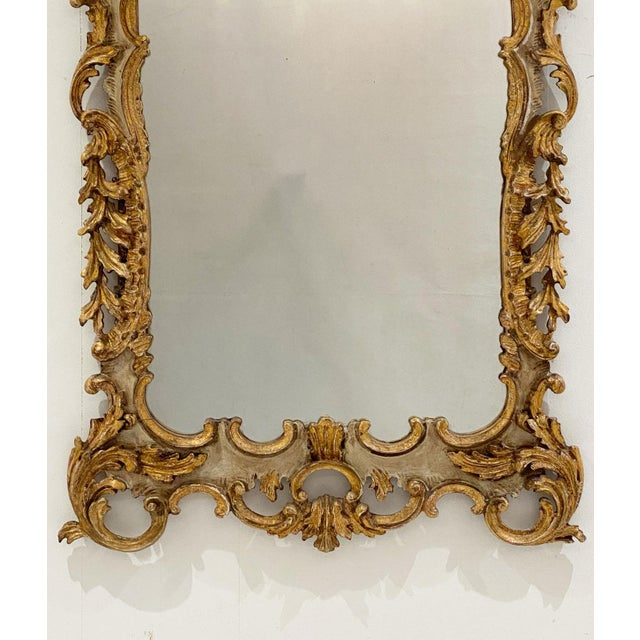 Vintage Italian Gilt and Painted Mirror For Sale - Image 4 of 7