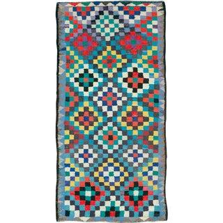 "Vintage Persian Flatweave Kilim Rug – Size: 5"" X 10' 7"" For Sale"