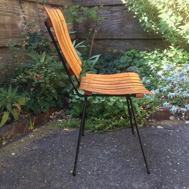 Arthur Umanoff 1950s Vintage Umanoff Slat Dining Chairs- Set of 6 For Sale - Image 4 of 13