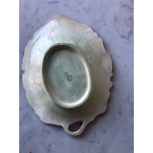 Majolica Antique Majolica Acorn Serving Dish For Sale - Image 4 of 5