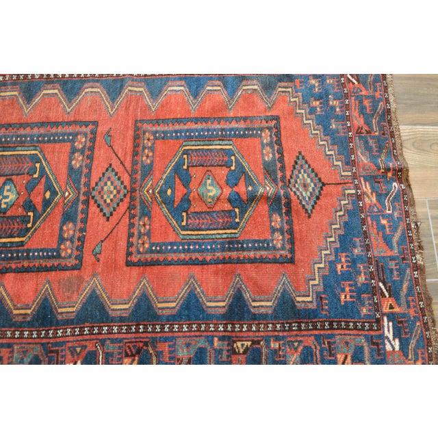 Antique Persian Kelardasht Rug Runner - 4′3″ × 8′6″ For Sale - Image 6 of 10