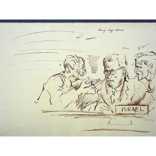 This captivating original drawing by the famous fine artist, illustrator and journalist David Fredenthal (1914-1958...