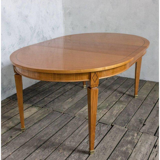 Brown French 1940s Oval Dining Table For Sale - Image 8 of 11