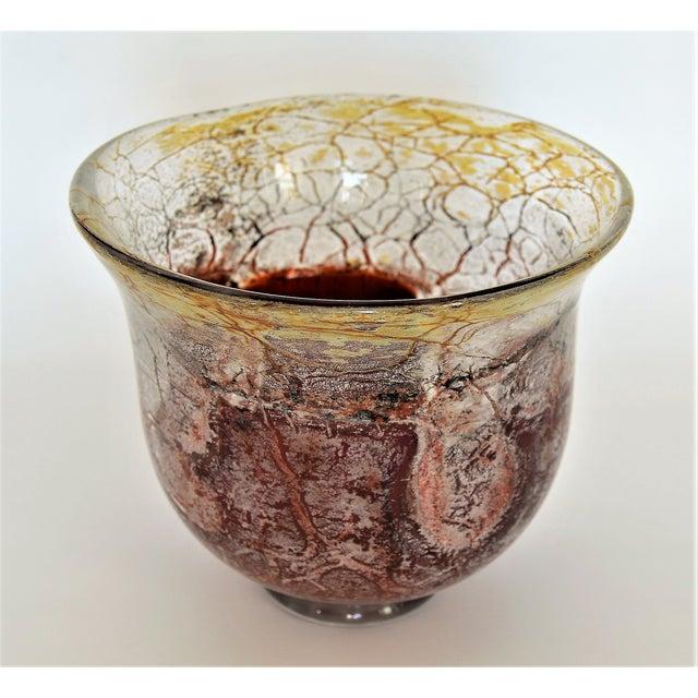 Art Deco 1930s Vintage Wmf Germany Art Deco Ikora Glass Bowl Murano Style Mid Century Modern Modernist MCM For Sale - Image 3 of 11