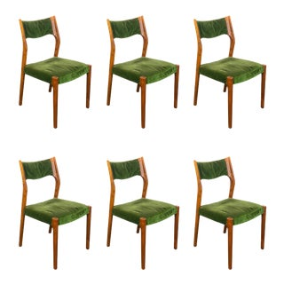 Set of 6 Italian Chairs From the Late 50s For Sale