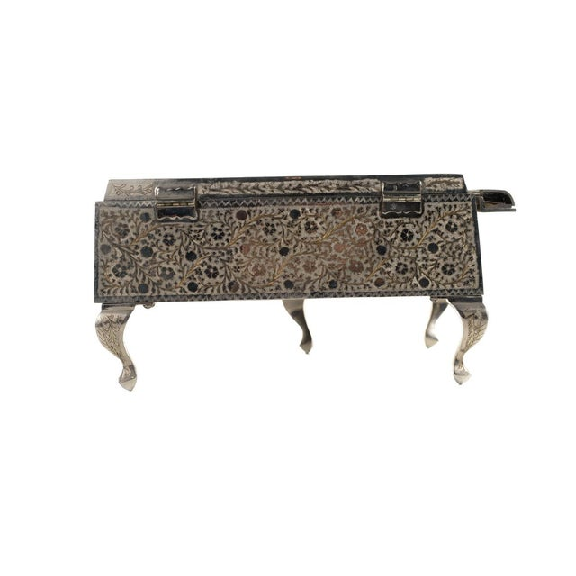 Zimbalist Silver Plated Grand Piano Swiss Music Box For Sale - Image 4 of 9