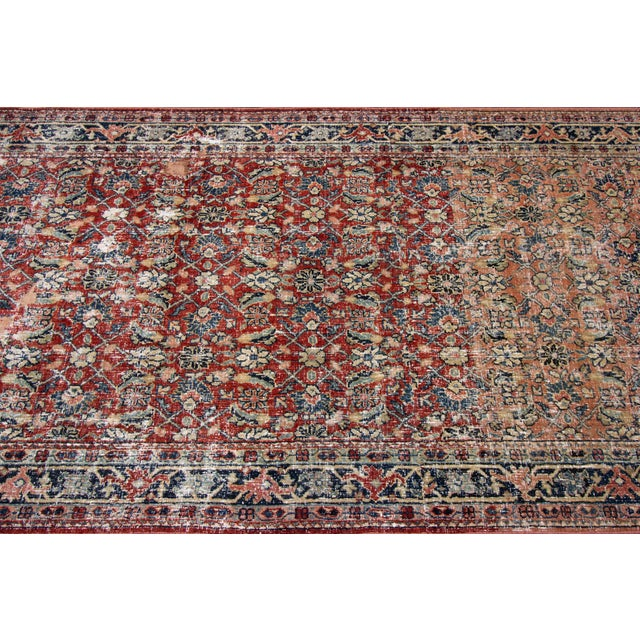 """Vintage Persian Distressed Rug, 4'3"""" X 19'7"""" For Sale - Image 10 of 12"""