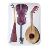 Image of Piero Fornasetti Dish With Musical Stringed Instruments For Sale
