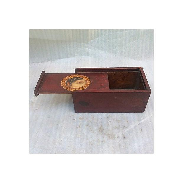 Antique Painted Eye Mystery Box - Image 3 of 6
