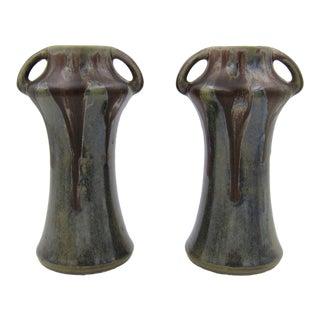 French Denbac Gres Flamme Art Nouveau Vases - a Pair For Sale