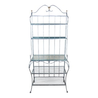 Vintage French Country Ethan Allen Legacy Iron Bakers Rack For Sale