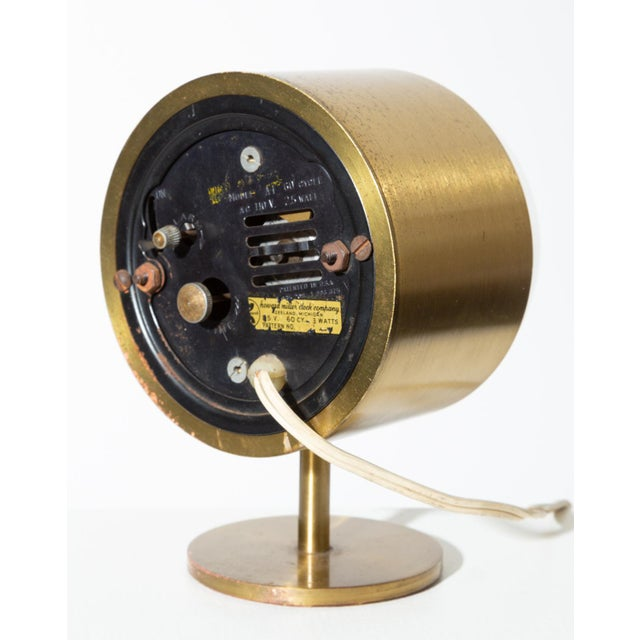 George Nelson Model 4766 Brass Clock for Howard Miller For Sale In Los Angeles - Image 6 of 8