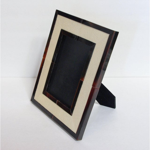 Asian Ivory Shagreen and Brown Horn Photo Frame by Fabio Ltd For Sale - Image 3 of 8