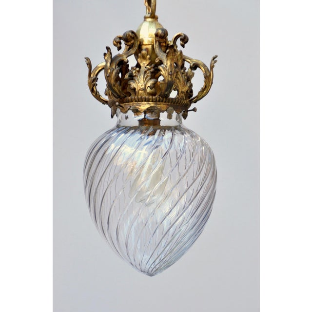 Early 20th C. Cut Crystal Pendant Lamp For Sale - Image 4 of 9