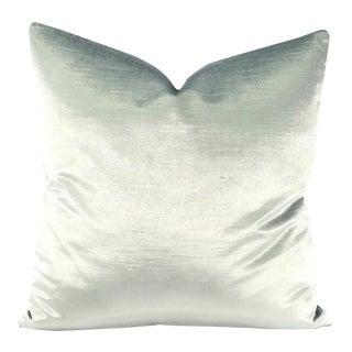 Ice Blue Silky Velvet Pillow Cover For Sale