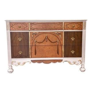 1930s Art Nouveau Ornate Vanity Dresser For Sale