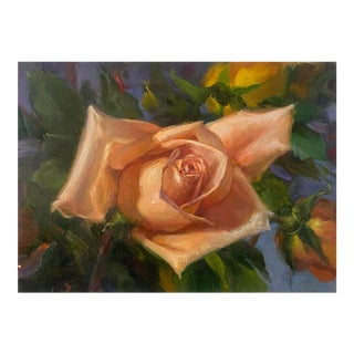"""""""Peach Rose"""" Painting For Sale"""