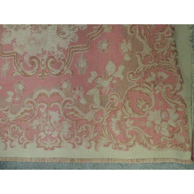 Mulberry Woven Dusty Rose Floral Throw For Sale - Image 4 of 7