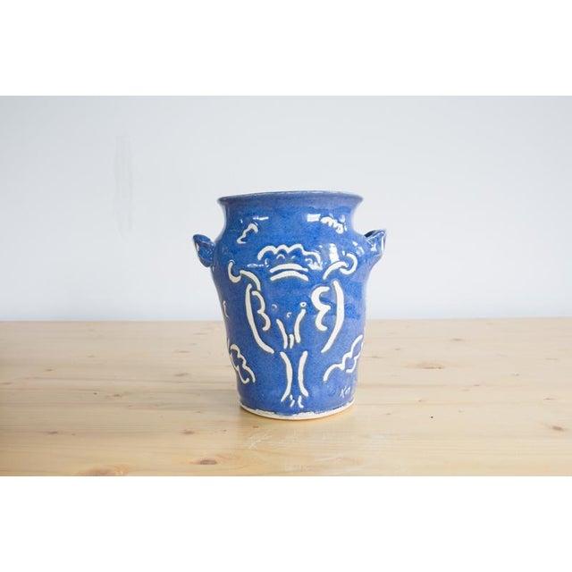 Impressionism Kate Lewis Flowers Divine Original Pottery Vase For Sale - Image 3 of 7
