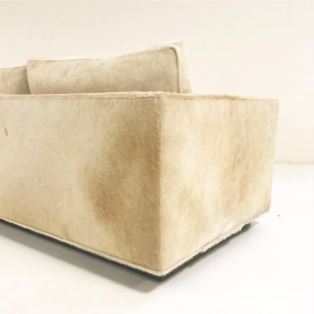 Forsyth One of a Kind Milo Baughman for Thayer Coggin Loveseat Sofa in Palomino Brazilian Cowhide For Sale - Image 11 of 11