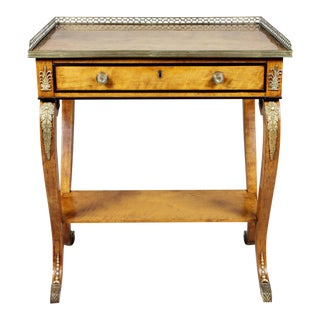 Regency Satinwood and Bronze-Mounted Small Writing Table