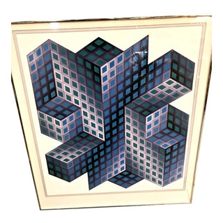 Victor Vasarely Signed and Numbered Lithograph For Sale