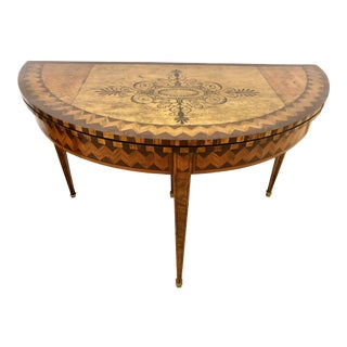18th C English Hepplewhite Card Table For Sale