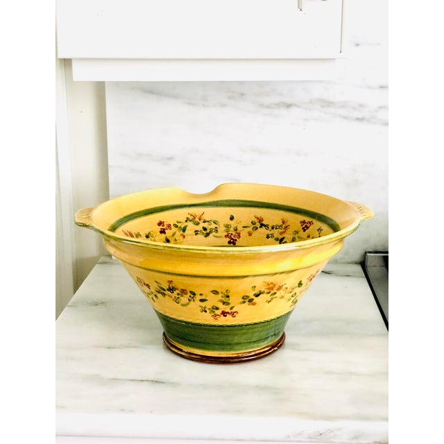 Italian Large Hand Painted Italian Pasta Bowl For Sale - Image 3 of 9