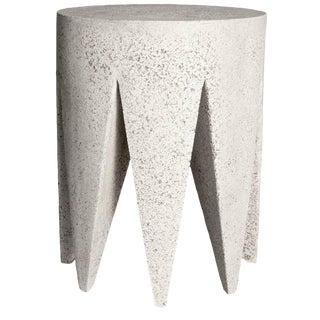 Zachary A. Design Cast Resin King Me Side Table For Sale
