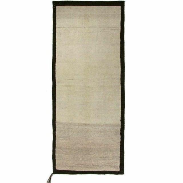 Turkish Cream Flatweave Kilim - 3' x 7'4'' - Image 1 of 4